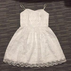 Lilly Pulitzer white lace floral spaghetti strap